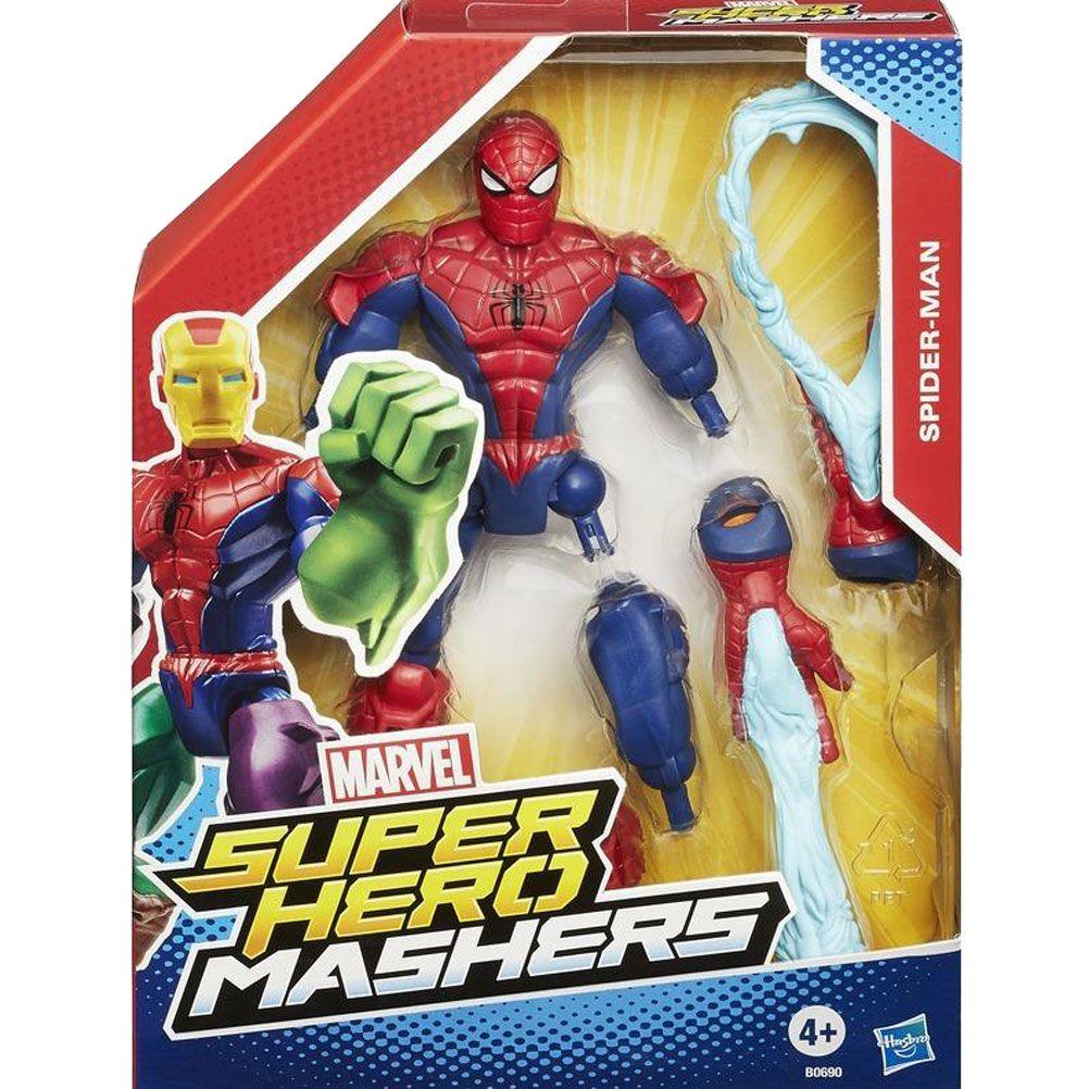 spiderman marvel super hero mashers articulate figure. Black Bedroom Furniture Sets. Home Design Ideas