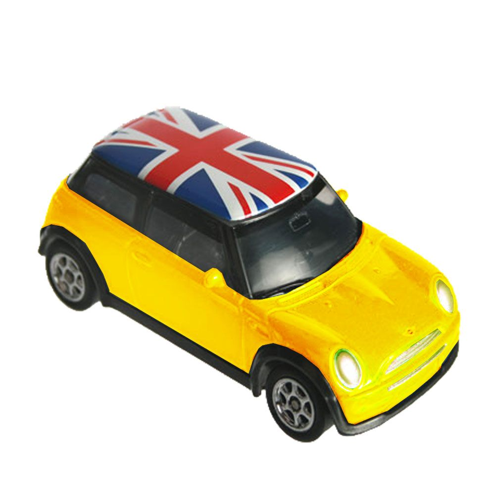 mini cooper union jack figurine. Black Bedroom Furniture Sets. Home Design Ideas