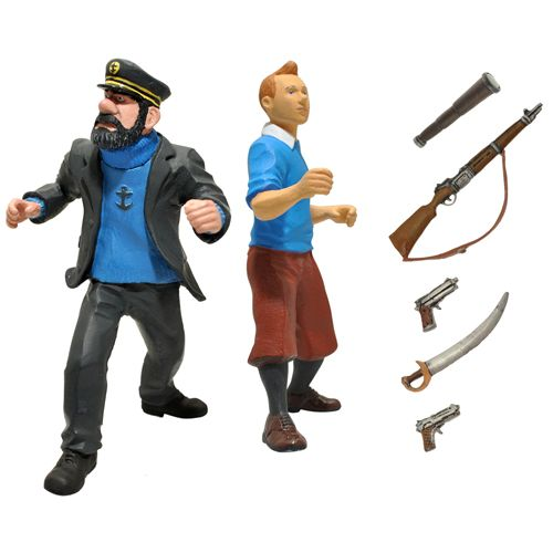 haddock and tintin figures and accessories. Black Bedroom Furniture Sets. Home Design Ideas