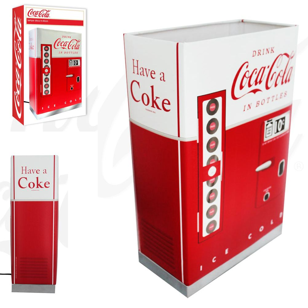 coca cola deco lamp. Black Bedroom Furniture Sets. Home Design Ideas