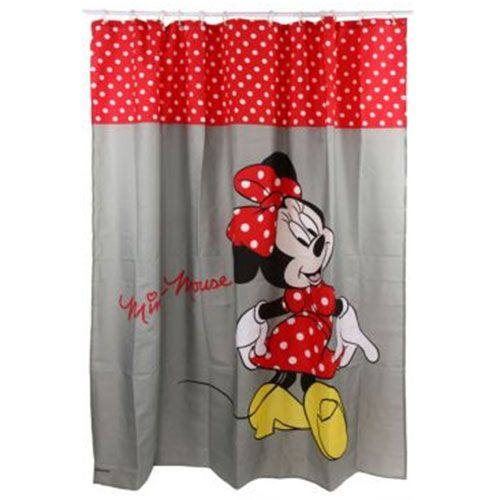 Minnie mouse shower curtain 100 polyester
