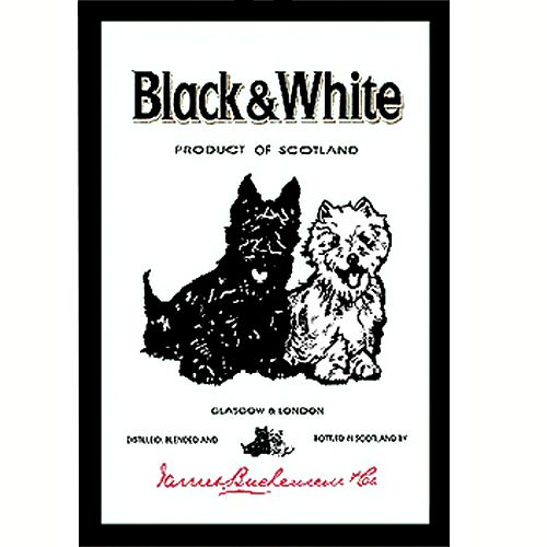 Whisky Black And White Mirror