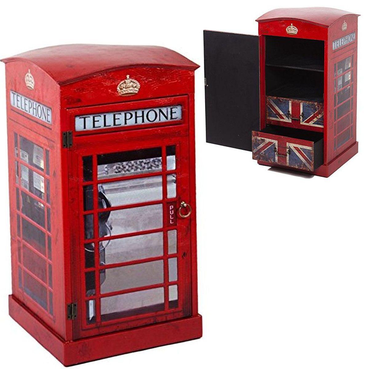 phone box retro console 80 cm. Black Bedroom Furniture Sets. Home Design Ideas