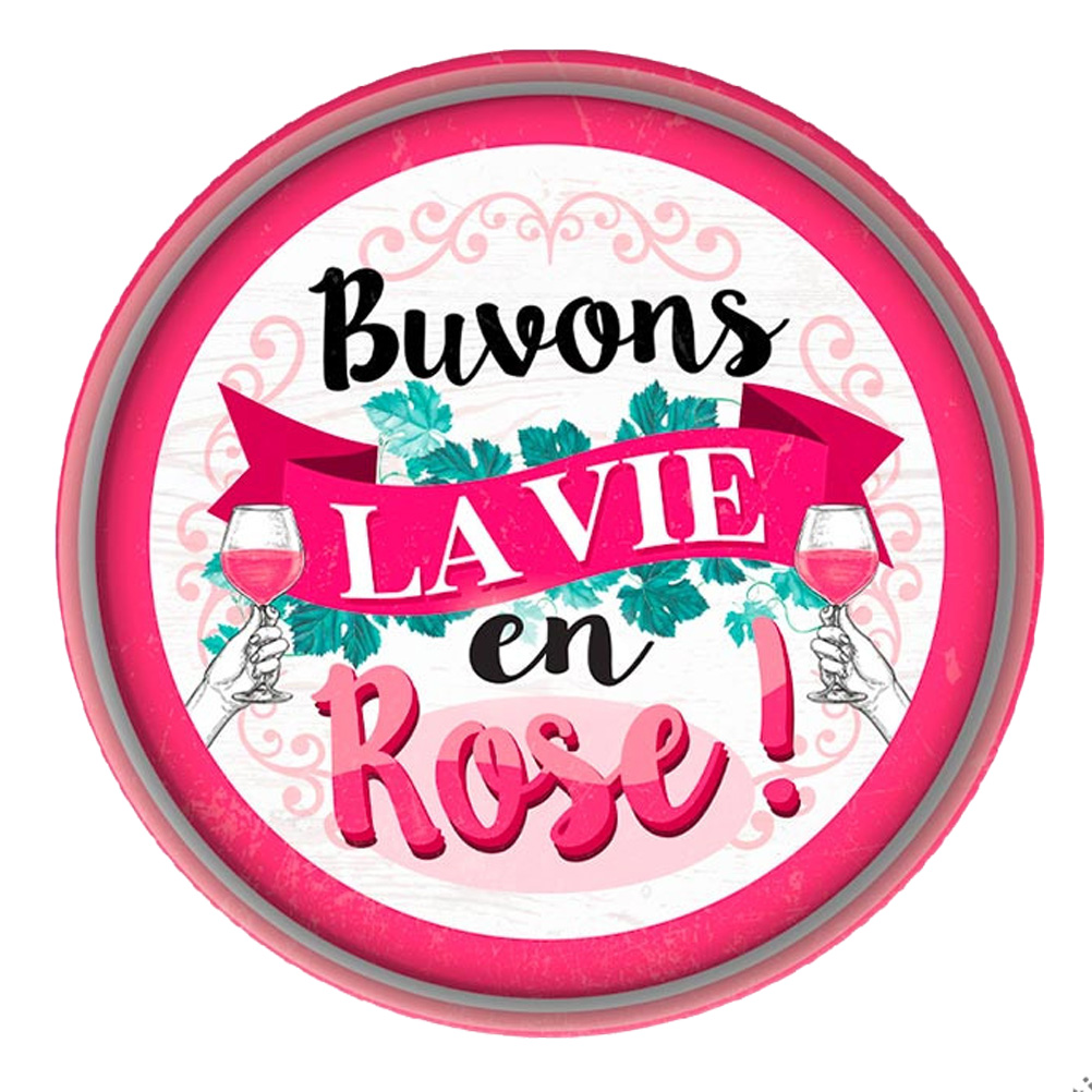LA VIE EN ROSE Metal tray 33 cm