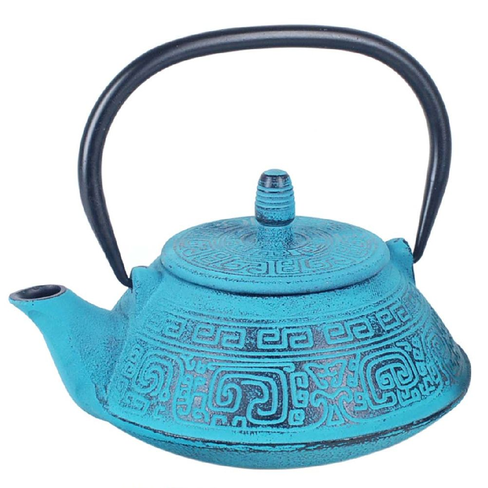 Gift Box -Tetsubin Light Blue teapot Japanese 0.8 liter
