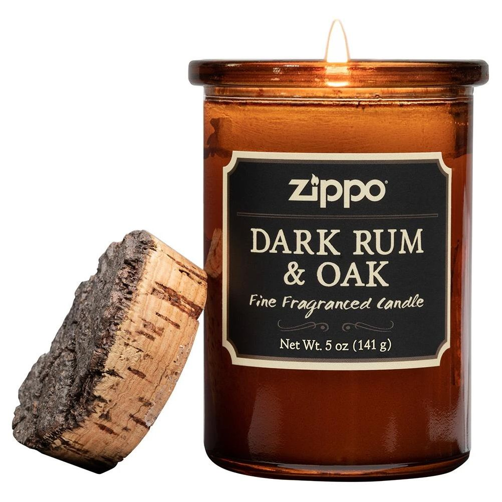 Dark Rum & Oak scented candle by Zippo - Made in USA