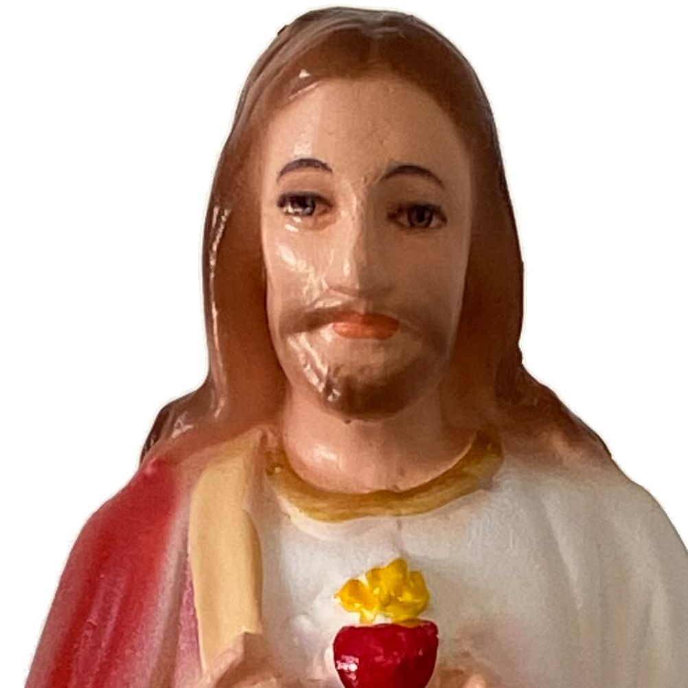 Statuette Jesus Christ Sacred heart - Inside and outside