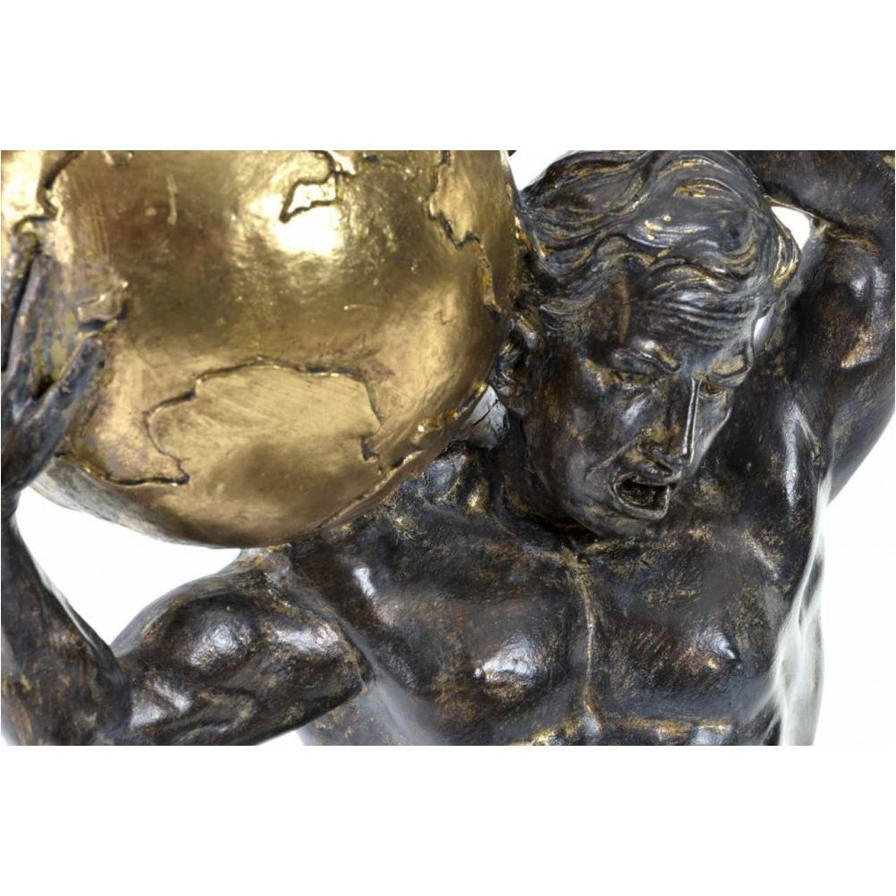 God Atlas statuette in patinated bronze resin - 41 cm
