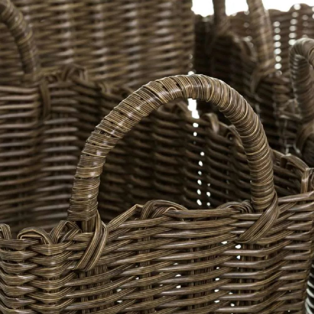 Set of 4 baskets with handles