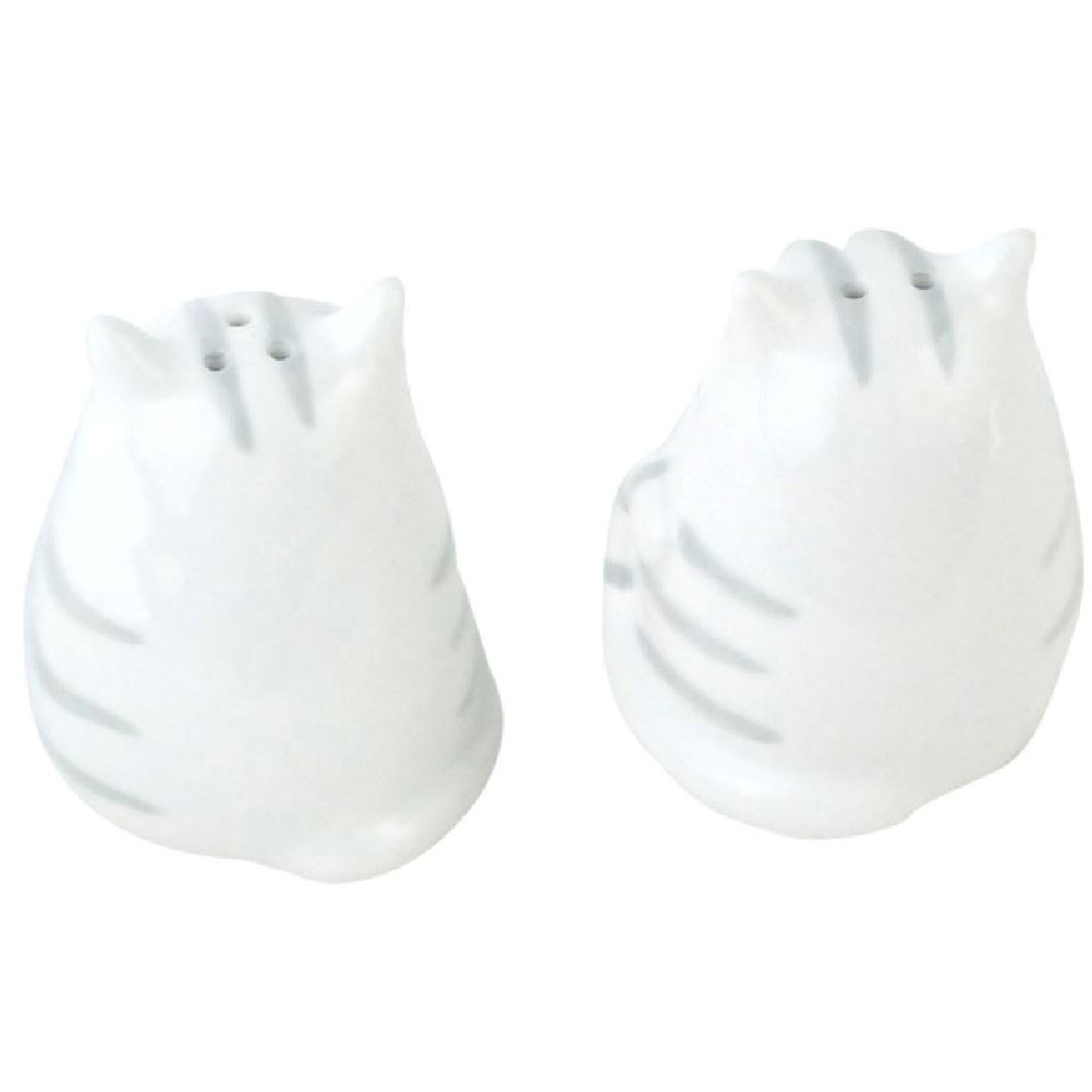 White Cats Set Salt and Pepper