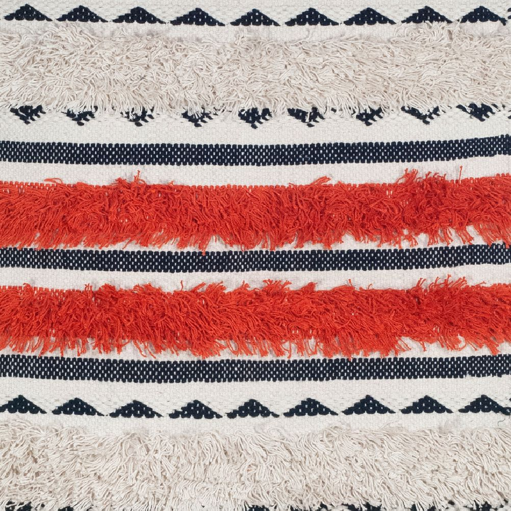 Lirette rug - Bohème Ethnic - cream, orange and black