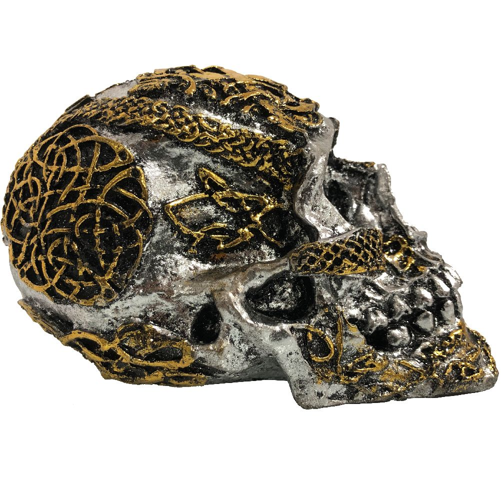 Resin Statuette - Celtic Skull
