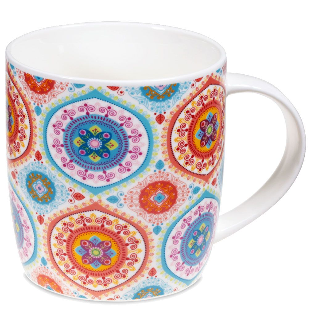 Gift box Tea Infuser Mug Mandala Blue