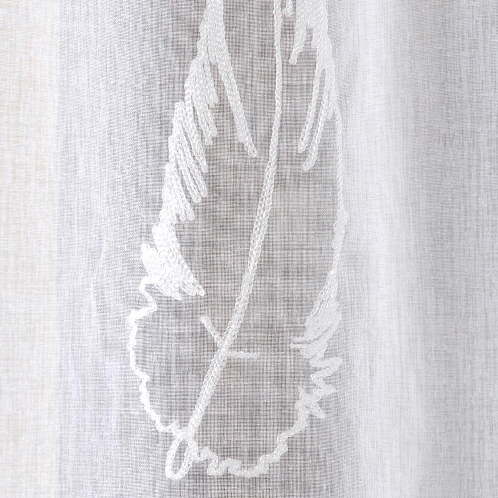 One Feathers Eyelets sheer curtain