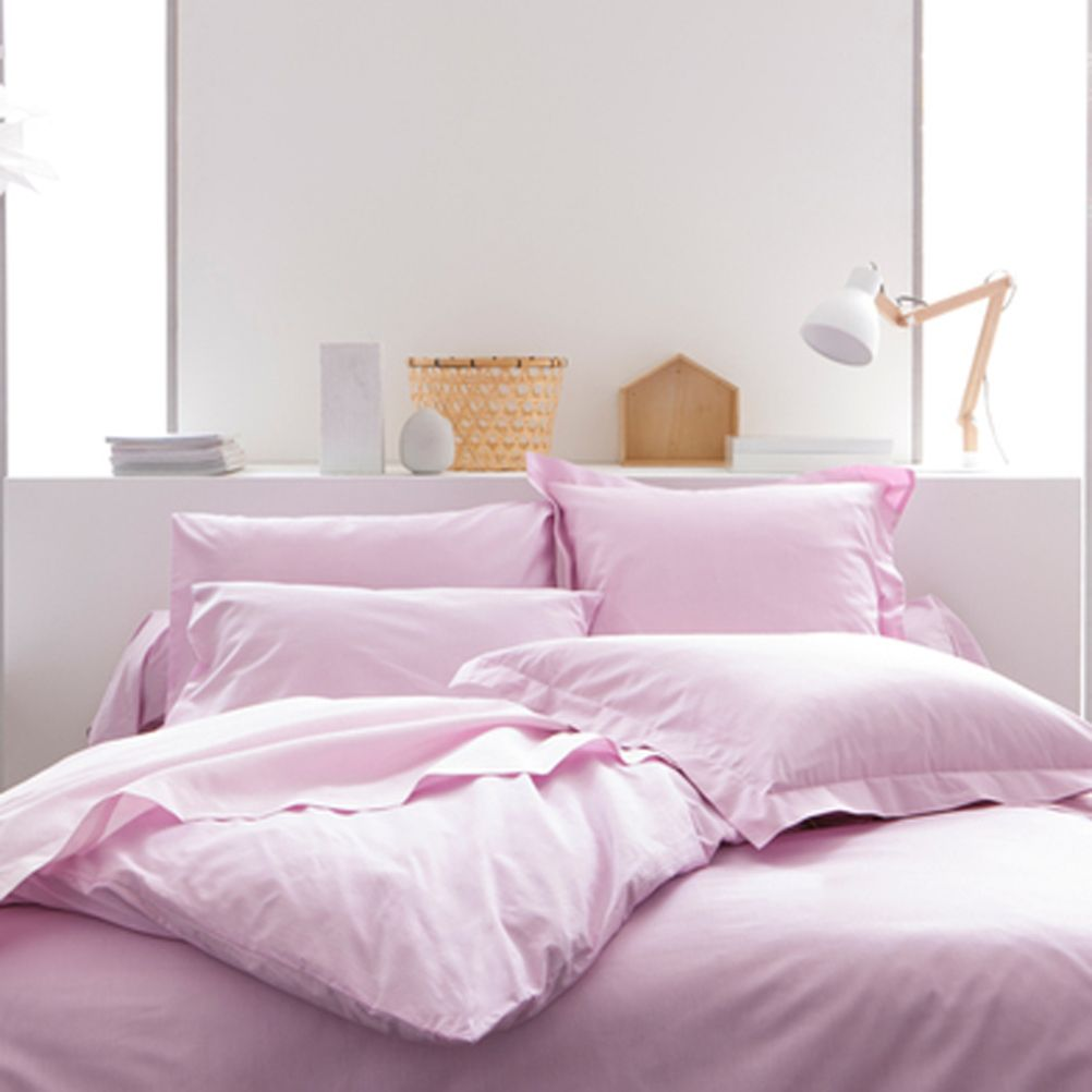 Duvet Cover 57 thread Cotton - 140 x 200 cm - Pink