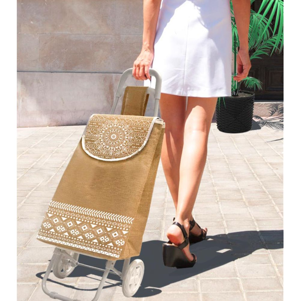 mandala boho shopping trolley