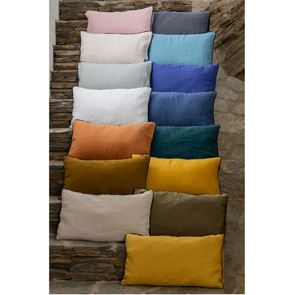 Pure washed linen cushion cover 45 x 45 cm