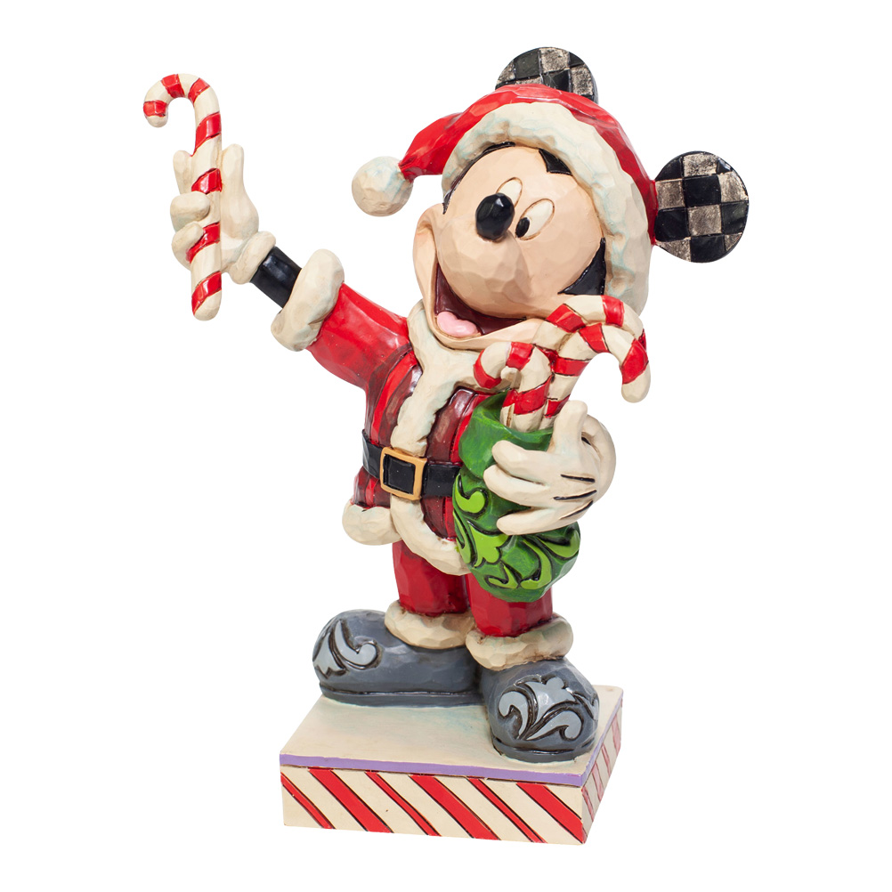 Mickey Mouse with Candy Canes Figurine