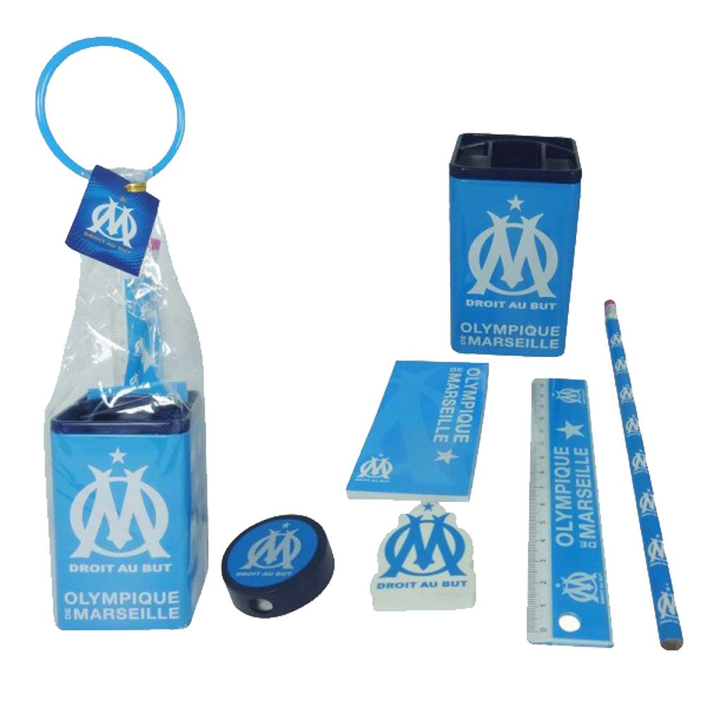 Olympique de marseille stationery set for Decoration chambre olympique de marseille