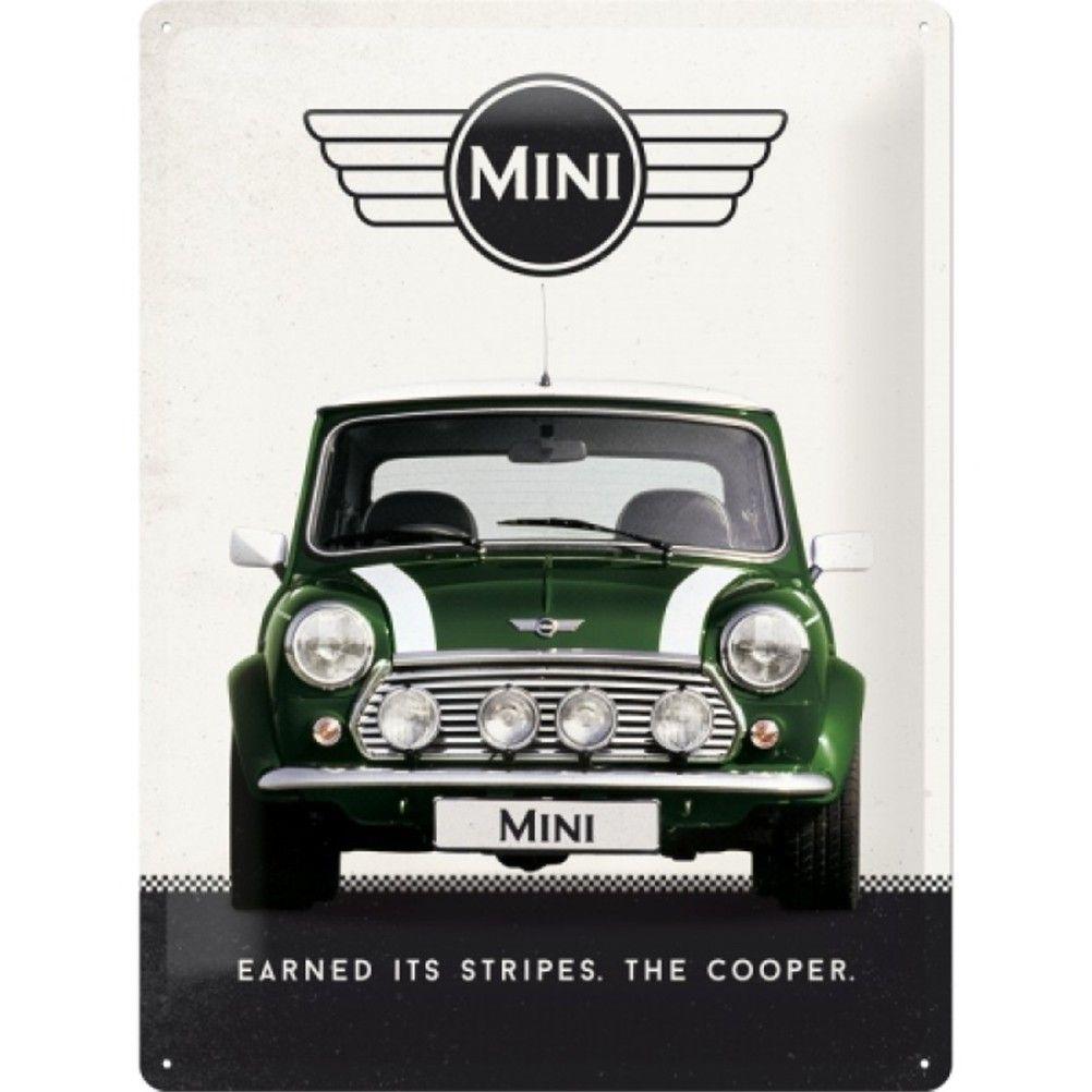 Austin Mini Cooper Large Metal Plate Deco