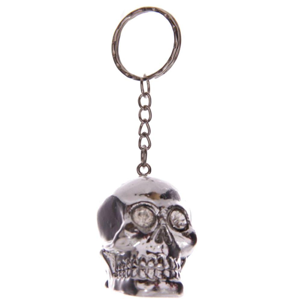Silver Skull Keyrings