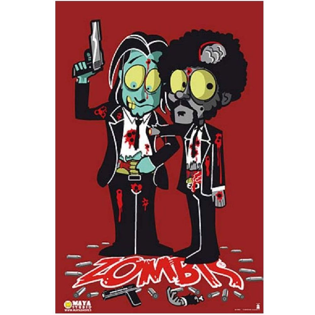 Pulp Fiction Zombis Poster