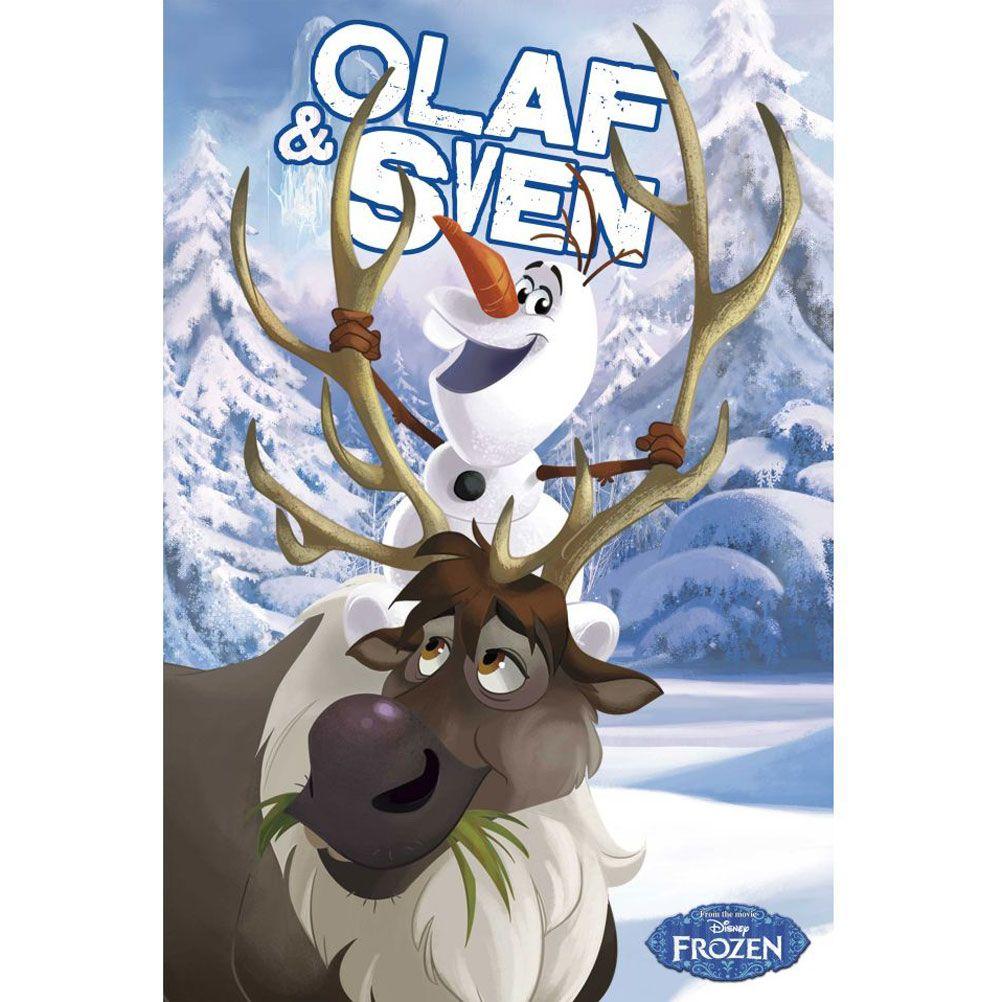Frozen Poster Olaf Olaf et Sven Frozen po...