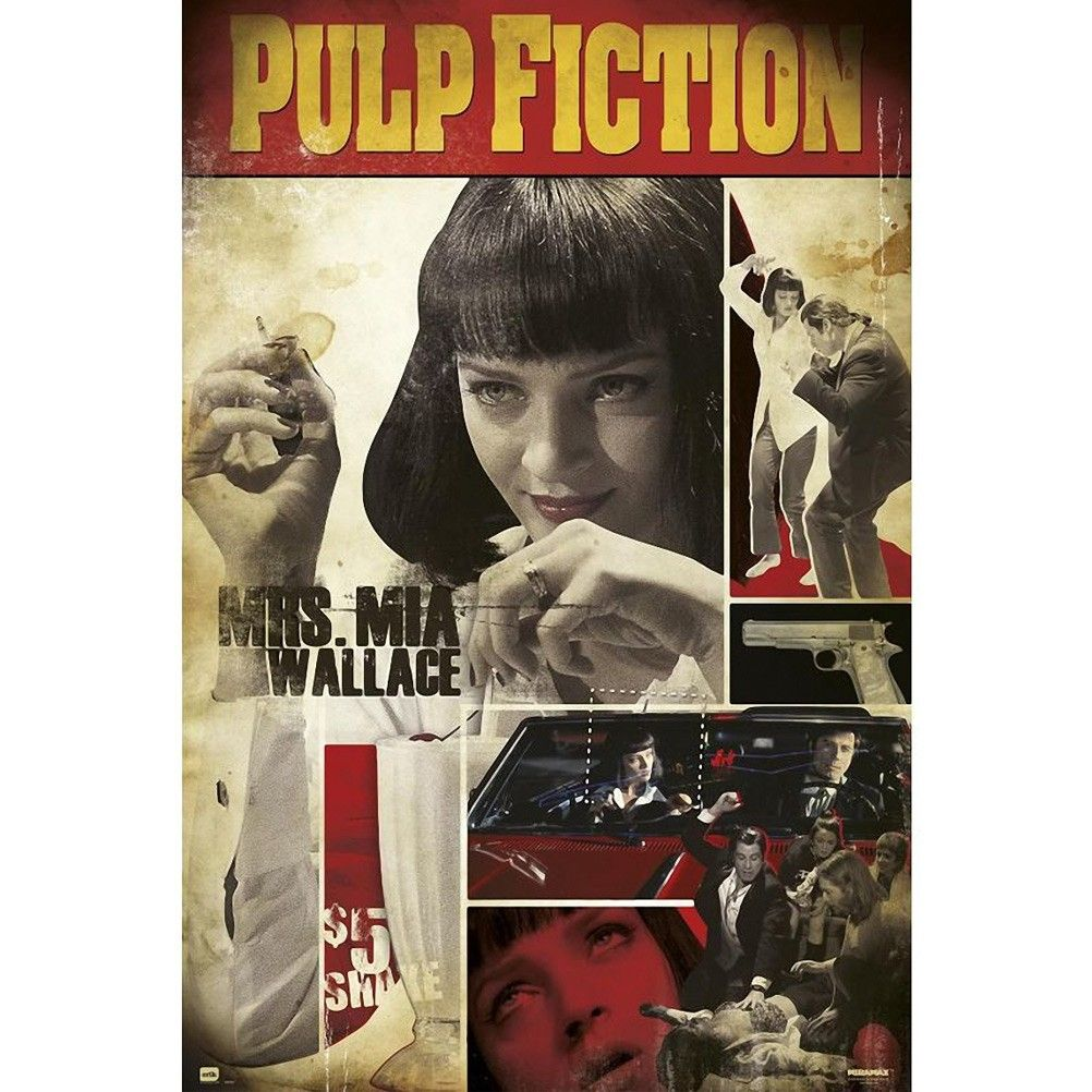 Pulp Fiction Mia Poster