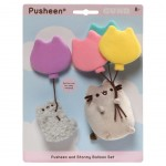 Pusheen and Stormy with Balloons