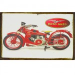 Small Moto Guzzi metal collection plate