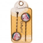 Verity Rose Set of 2 hair clips retro