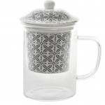 Glass cup with porcelain infuser