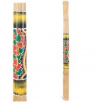 Bamboo Rain stick 91 cm - Red and Green Pattern