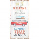 Welcome to Paradise wooden wall decoration to hang