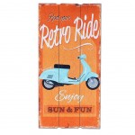 Retro Ride wooden wall decoration to hang