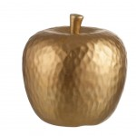 Apple Deco ceramic gold 10 cm
