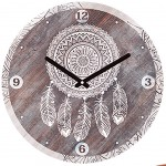 Clock Indian spirit 28 cm - Dream Catcher