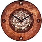 Clock Indian spirit 28 cm - Mandala