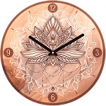 Clock Indian spirit 28 cm - Lotus