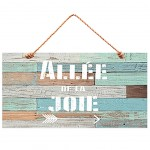 Quote wooden wall decoration to hang