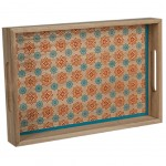 Wooden tray 35 cm - Blue