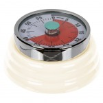 Kitchen timer in white metal