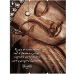 Zen wooden wall decoration to hang 30 x 40 cm