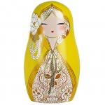 Beautiful Babushka By Kimmidoll Yellow magnet