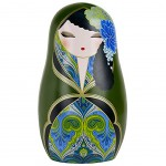 Beautiful Babushka by Kimmidoll Green magnet
