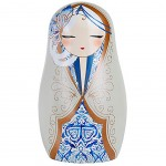 Beautiful Babushka By Kimmidoll Beige magnet