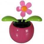 Solar Powered Pink Flower Dancing