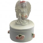 Angel and Basket of Roses Small box