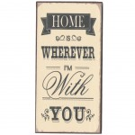 Mini Magnetic plate rétro - Home is Wherever I'm with yo