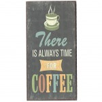 Mini Magnetic plate - There is always time for Coffee - 8 x 4 cm
